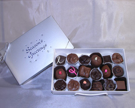 Seasons Greetings half LB assorted chocolates