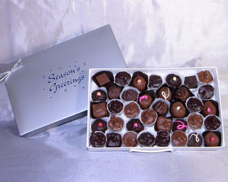 Seasons Greetings 2 LB box assorted chocolates