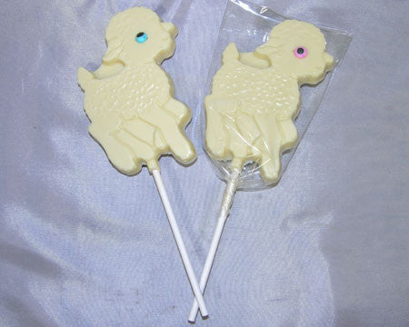 Lamb lollipop white chocolate