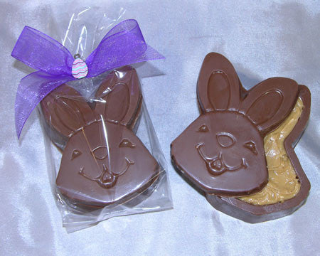 milk chocolate bunny head peanut butter filled