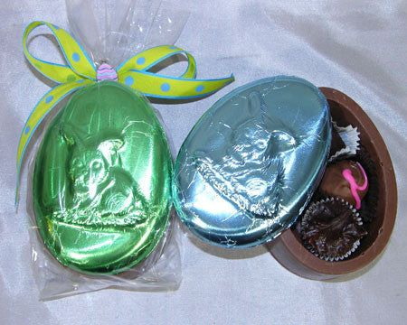 Chocolate egg shaped box with assorted chocolates