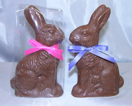 Solid Rabbit on a flower milk chocolate