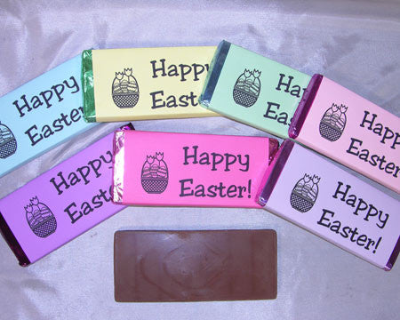 Large Happy Easter candy bar