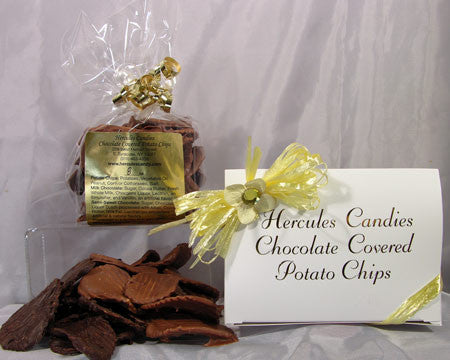 Chocolate Covered Potato Chips, half Lb. Gift Box