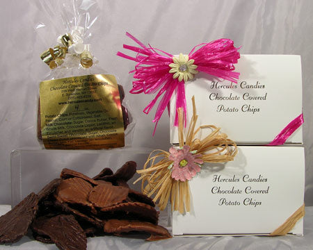 Chocolate Covered Potato Chips, quarter Lb. Gift Box