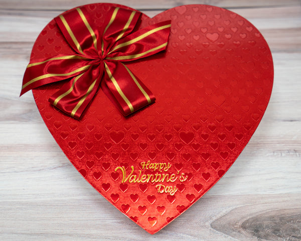 Heart box, red foil, Happy Valentine's Day, 24 ounces