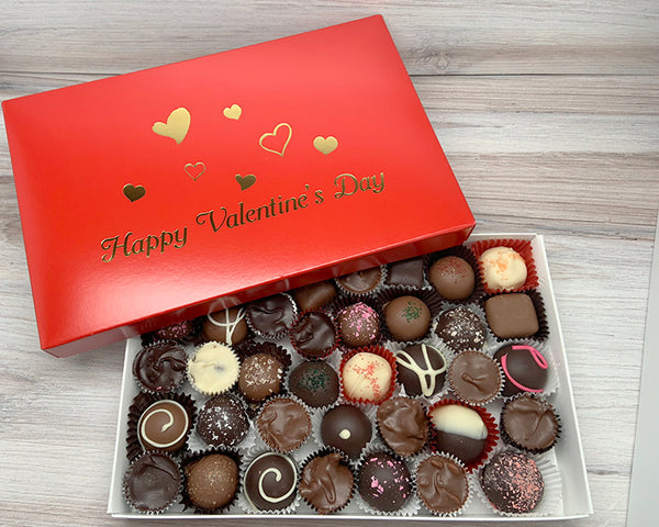 Happy Valentine's Day one lb assorted chocolates