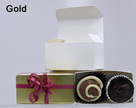gold small plain favor box chocolate filled