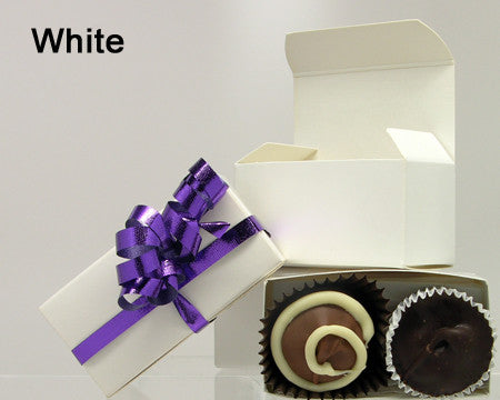 white small plain favor box chocolate filled