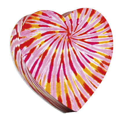 Heart box, tie dyed, 4 ounces