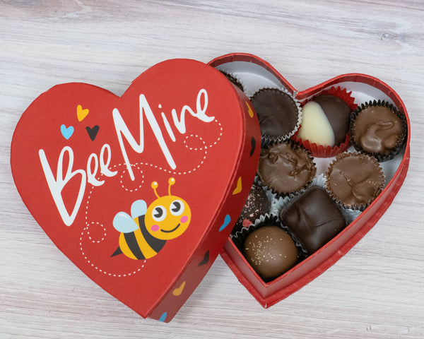 Bumble bee heart box, 4 ounces