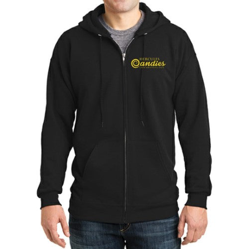 Hercules Candy black zip up hoodie