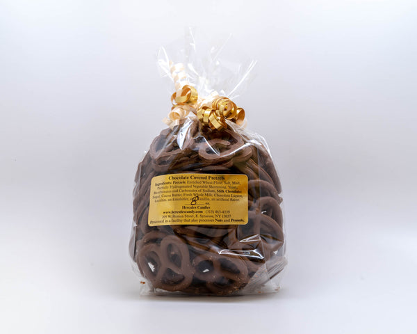 chocolate covered pretzels 8 oz