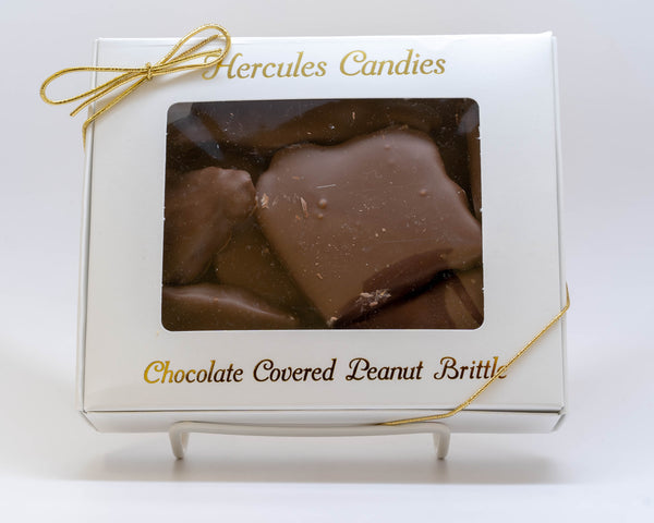 Chocolate covered peanut  brittle 12 ounce box