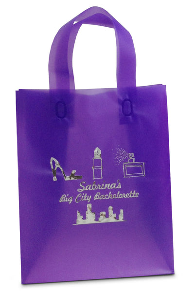 grape frosted tote bag