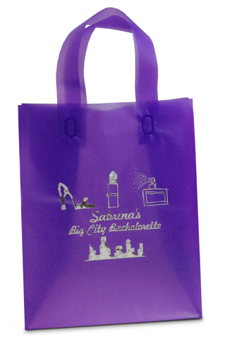 Personalized gift bags hercules candy and chocolate shop grape frosted tote bag negle Image collections