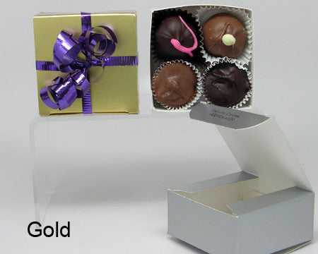 gold plain favor box