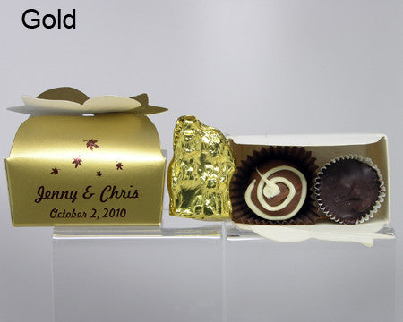 gold bow top favor box personalized