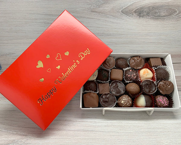 Happy Valentine's Day half lb assorted chocolates