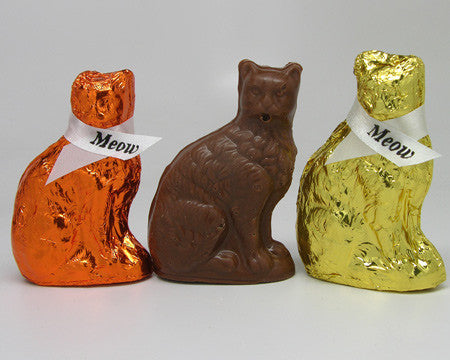 solid milk chocolate kitty cat
