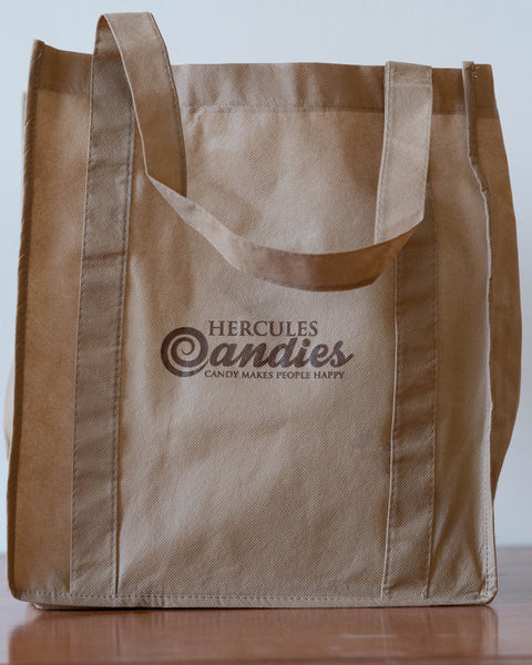 Hercules candy logo reusable shopping bag