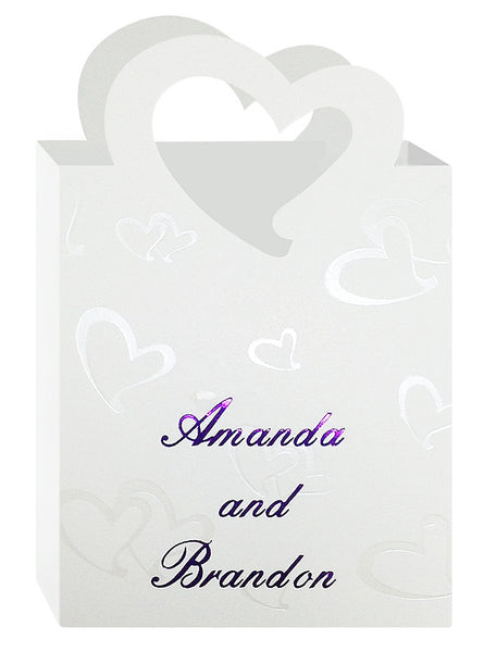 Personalized Heart Handle Favor Tote