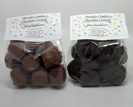 Chocolate Dipped Marshmallows half Lb