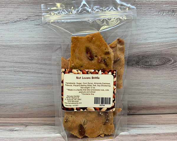 Mixed nut brittle 12 ounce bag
