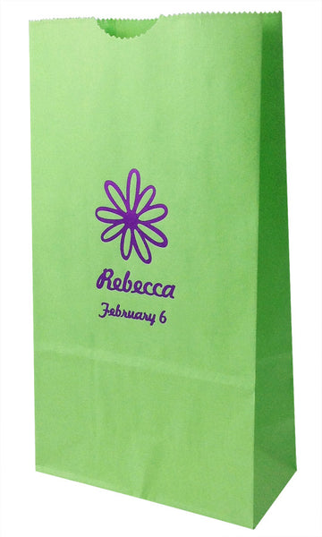 lime  Lunch bag small personalized