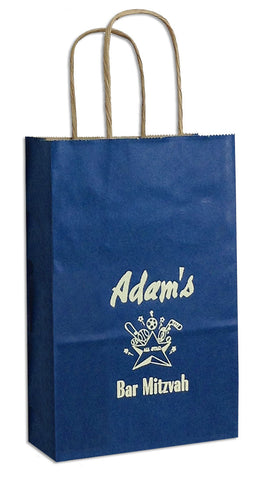 Personalized gift bags tagged kraft hercules candy and pacific blue petite kraft gift bag negle Image collections
