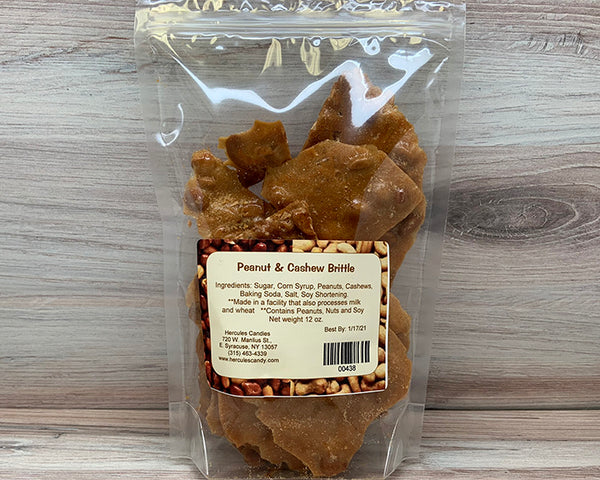 peanut and cashew brittle 12 ounce bag