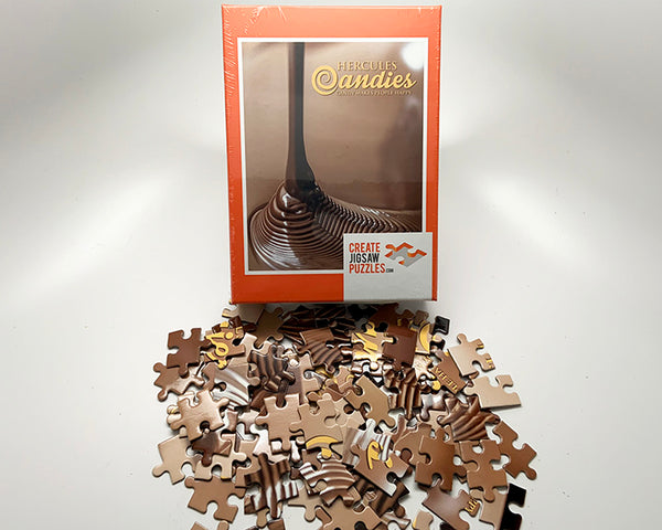 Puzzle of flowing chocolate
