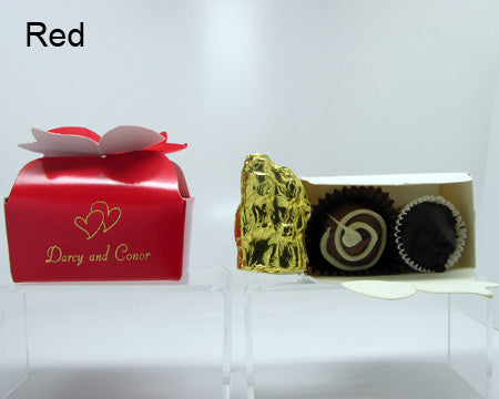 red bow top favor box personalized