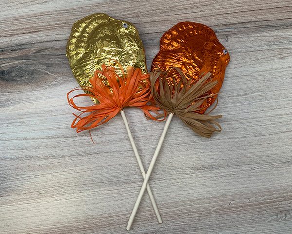 milk chocolate turkey lollipop