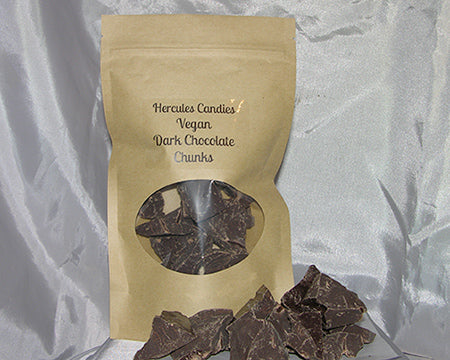 vegan dark chocolate chunks, 8 ounces