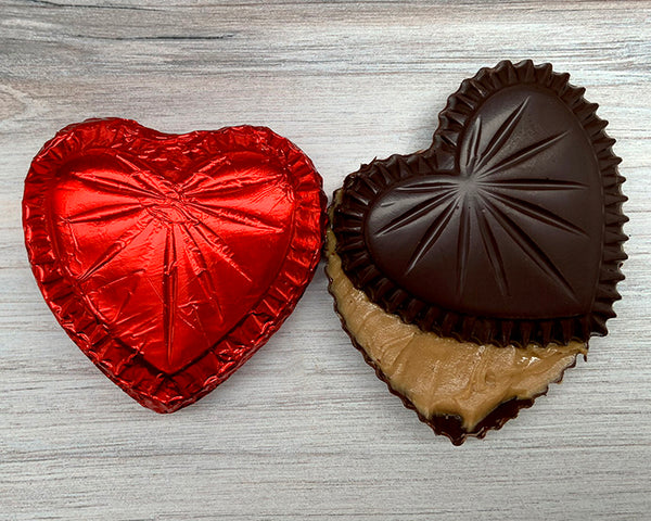 Vegan Chocolate Heart Box, peanut butter filled