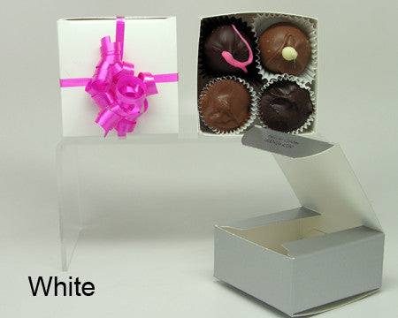 white plain favor box