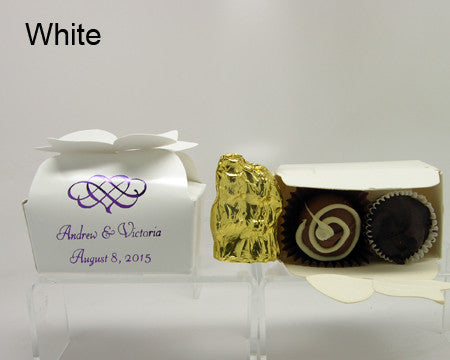 white bow top favor box personalized
