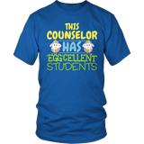 Counselor - Eggcellent Students - District Unisex Shirt / Royal Blue / S - 5