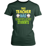 Teacher - Eggcellent - District Made Womens Shirt / Forest Green / S - 3