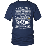 School Bus Driver - Big Cup - District Unisex Shirt / Navy / S - 5