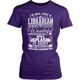 Librarian - Big Cup - District Made Womens Shirt / Purple / S - 3