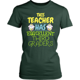 Third Grade - Eggcellent - District Made Womens Shirt / Forest Green / S - 3