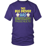 School Bus Driver - Eggcellent - District Unisex Shirt / Purple / S - 6
