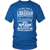 Librarian - Big Cup - District Unisex Shirt / Royal Blue / S - 8