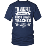First Grade - Thankful - District Unisex Shirt / Navy / S - 8