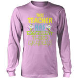 Third Grade - Eggcellent - District Long Sleeve / Pink / S - 11