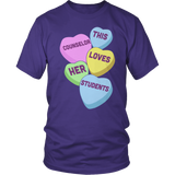 Counselor - Candy Hearts - District Unisex Shirt / Purple / S - 8