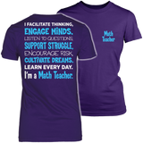 Math - Engage Minds - District Made Womens Shirt / Purple / S - 3