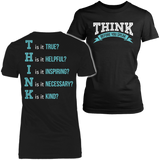 Teacher - THINK - District Made Womens Shirt / Black / S - 10